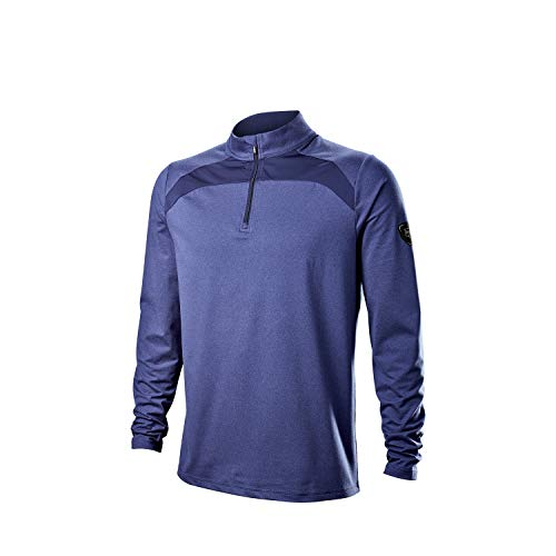 Wilson Staff Hombre Camiseta térmica de golf, WILSON STAFF THERMAL TECH, Poliéster/Elastano, Azul, Talla XXL, WGA700726XXL