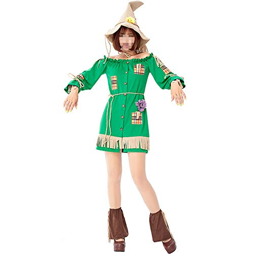 YyiHan Disfraz De Halloween, Disfraz De para Niña Halloween Disfraz Vestido Halloween Cosplay,el Mago De Oz Farmland Scarecrow Patch Patch King para Mujer