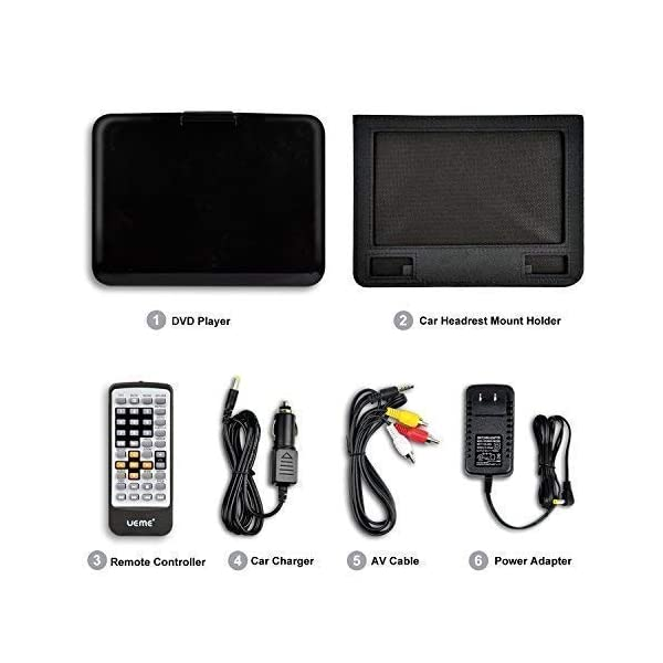 Portable DVD Player with 10.1 Inches LCD Screen 4