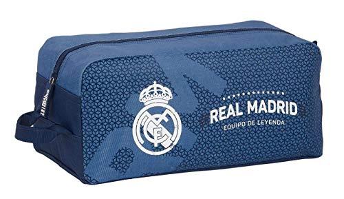 safta 812124440 Bolso Zapatillas zapatillero Real Madrid CF, Azul