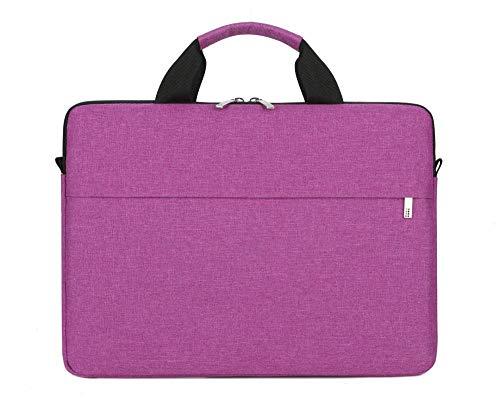 Practical Computer Case Laptop Bag 13/14/15.6 Inch For Macbook Office Notebook Pouch Lightweight Briefcase Men Women Handbag (Color : Purple, Size : 15.6-inch)