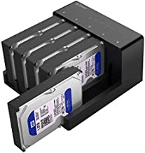 ORICO USB 3.0 to SATA External Hard Drive 5 Bay Docking Station with Duplicator Offline Clone Function for 2.5 or 3.5in HDD, SSD Support 5X 10 TB