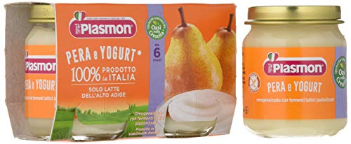 Plasmon Omogeneizzato di Yogurt Pera - 24 pezzi da 120 gr