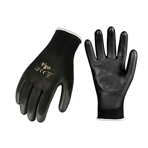 buenos comparativa Vgo 15Pares PU Gloves Garden and Light Gloves (Negro, 8 / M, PU2103) y opiniones de 2021