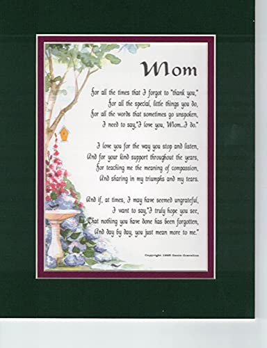 Mom Poem- Mother Poem- Mom Print- Mother Print-Mom Verse- mother Verse- Mom Saying- Mother Saying- 8x10 Double-Matted Print- Moms Birthday- Mothers...