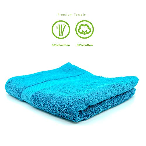 TopSpirit® Premium handdoek van katoen en bamboe (bamboevezel) 500g/m2 - petroleumblauw - Oeko-TEX® Standard 100 | 50 x 100 cm
