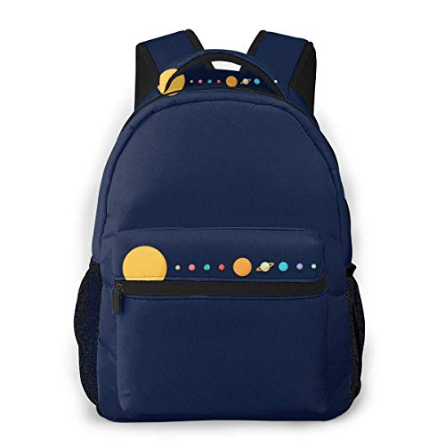 LNLN Mochila Casual para niñas Alignment of Solar System Laptop Backpack School Backpack for Men Women Lightweight Travel Casual Durable Daily Daypack College Student Rucksack 11 5in X 8in X 16in