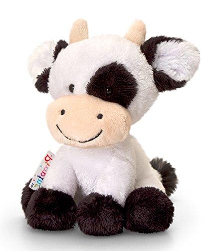 Lashuma Plüschtier Kuh Daisy, Schwarz - Weißes Kälbchen, Kuscheltier Pippins 14 cm
