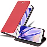 Cadorabo Hülle für Xiaomi Mi A1 / Mi 5X in Apfel ROT - Handyhülle mit Magnetverschluss, Standfunktion & Kartenfach - Hülle Cover Schutzhülle Etui Tasche Book Klapp Style