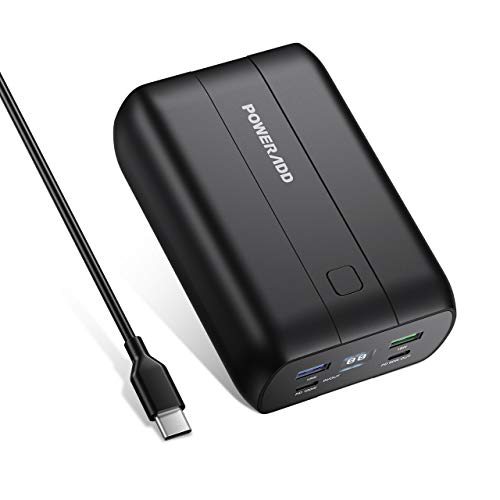 POWERADD Portable Charger 26800mAh Power Delivery Power Bank with Dual USB-C (100W&60W), QC 3.0 External Battery Compatible with USB-C Laptops, MacBook, iPad Pro, Nintendo Switch and More