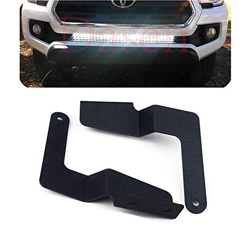 Dasen Lower Hidden Bumper Grille Mount Brackets Compatible with 32 Inch LED Light Bar Compatible with 2016-2019 Tacoma Pickup 2WD/4WD