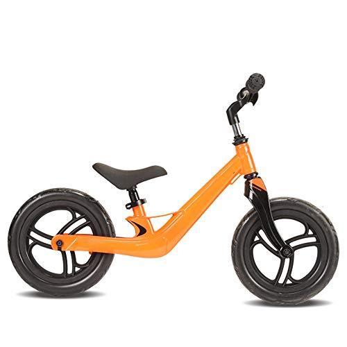 YumEIGE loopfiets voor kinderen, het frame is slechts 500 g licht, schuimwiel, stuur/zadel in hoogte verstelbaar, kinderloopwiel met wielen rood, geel geel