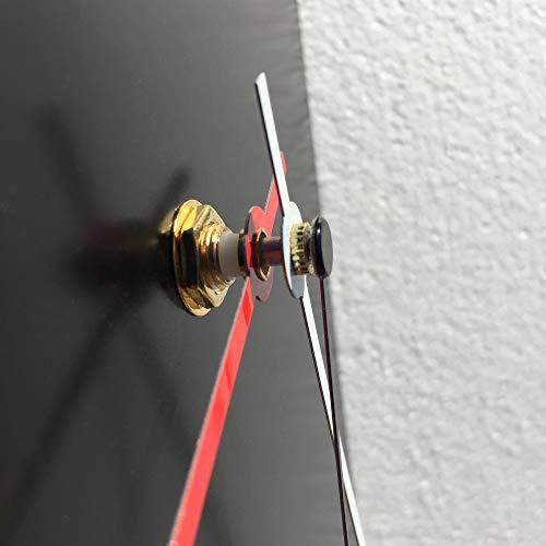 Minimalist Wall Clock 'Black Mod Clock' by Adam Schwoeppe - Original Modern Black Decor Contemporary Metal Clock on Steel
