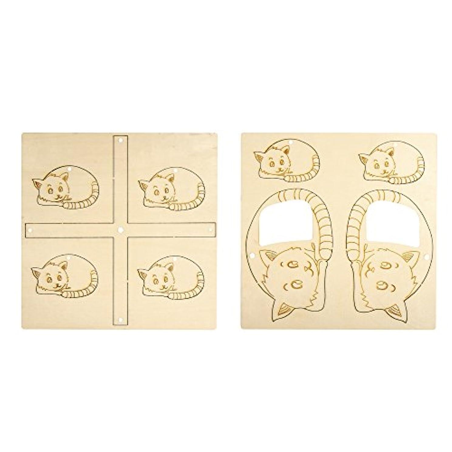Rayher Wooden Hobby 62605000–Mobile Set-Fsc 100%, 21 x 21 cm, 9–Piece 4 M Cord Tab Bag 1 Set