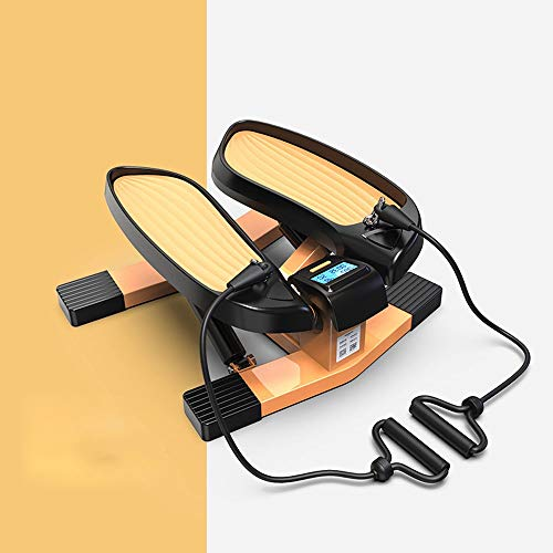 DH-HD Tragbare Indoor Stepper Mini Air Climber Twist Stepper for Trainingsmaschine mit Widerstand-Band und LCD-Display for Office Haushalt Gymnastikraum Sport, Stepper