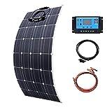 Sutakhi 100W Mono Flexible Solar Panel 20A/10A...