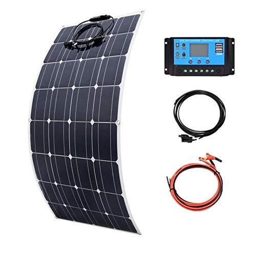 Sutakhi 100W Mono Flexible Solar Panel 20A/10A Solar Controller Module for Car Rv Boat Home Roof Vans Camping 12V 24V Solar Battery Solar Cells
