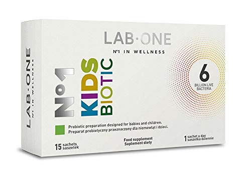 Lab One Probiotic for Kids 15 sachets, The Best for antibiotic Therapy, Support intestinal microflora and strengthening Immunity
