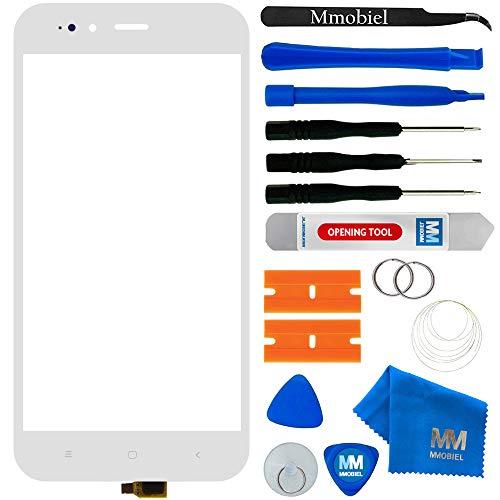 MMOBIEL Kit de reemplazo de Vidrio Frontal de digitalizador de Pantalla táctil Compatible con Xiaomi Mi A1 2017 5.5 Inch (Blanco) Incl. Kit de Herramientas