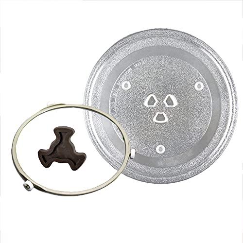 WXZX Bandeja De Base De La Placa Giratoria Microondas 25.5cm, 27cm, Base del Horno De Vidrio Soporte, Giratorio Soporte Anillo Giratorio, Accesorios De Piezas De Horno