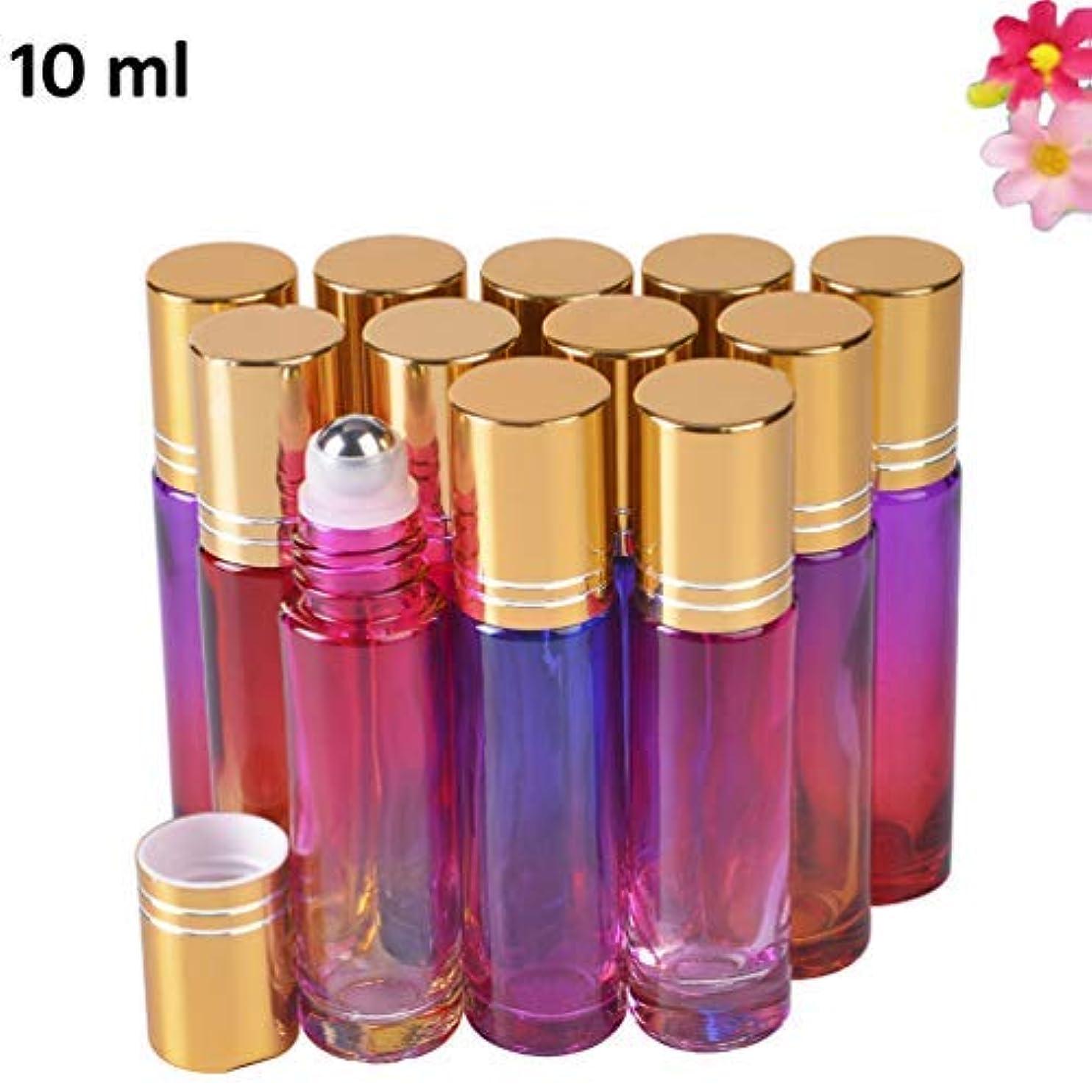 アレンジ将来の休憩12 pack Essential Oil Roller Bottles 10ml with Beautiful Color [並行輸入品]