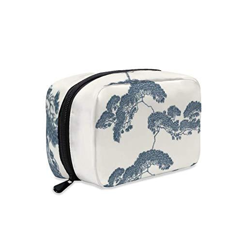 Bolsa de maquillaje japonesa para bonsái, con cremallera, bolsa de viaje para...