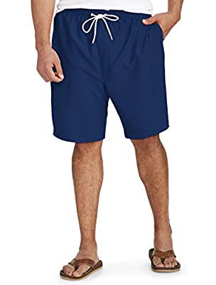 Amazon Essentials Men's Big & Tall Quick-Dry Swim Trunk fit by DXL, Navy, 2XL