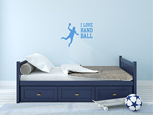 Comedy Wall Art I Love Handball - Hellblau - ca. 40 x 30 cm