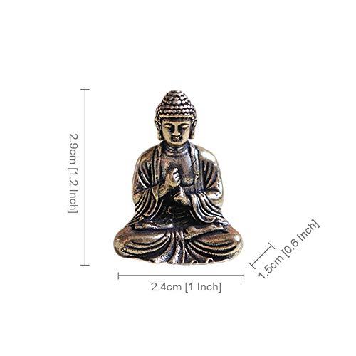 AIJOAN-BJ Statuen Dekoration Statuen Und Skulpturen Mini Tragbare Vintage Messing Buddha Statue Tasche Sitzen Buddha Figur Skulptur Home Office Schreibtisch Dekorative Ornament Spielzeug Geschenk