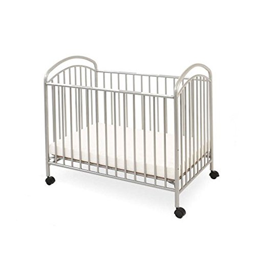LA Baby Mini/Portable Crib, Pewter