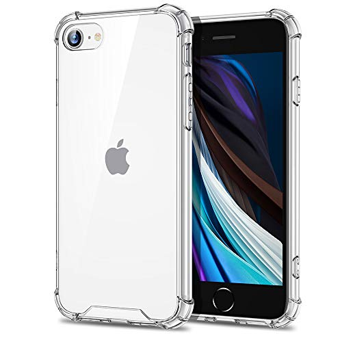 EONO by Amazon, Cover per iPhone SE 2021/iPhone 8, Custodia per iPhone SE [Anti Urto] [Indistruttibile] Policarbonato Resistente+ Struttura in Polimero Flessibile, per iPhone SE 2021/8, Trasparente