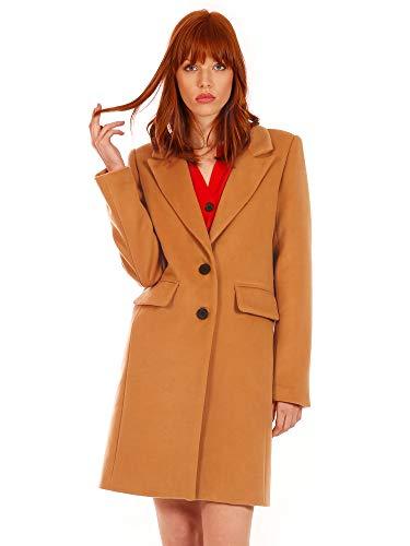 Minueto Abrigo para mujer Camel Coat marrón claro M