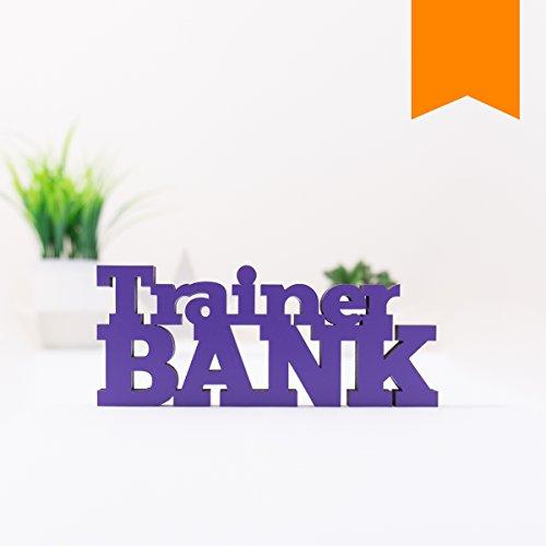 KLEINLAUT 3D-Schriftzug Trainerbank in Größe: 10 x 4,1 cm - Dekobuchstaben - 32 Farben zur Wahl - Neon Orange