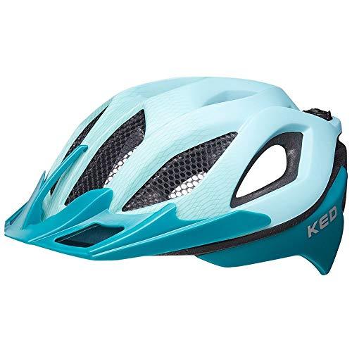 KED Spiri Two L lightblue Green - 55-61 cm - inkl. RennMaxe Sicherheitsband - Fahrradhelm Skaterhelm MTB BMX Erwachsene Jugendliche
