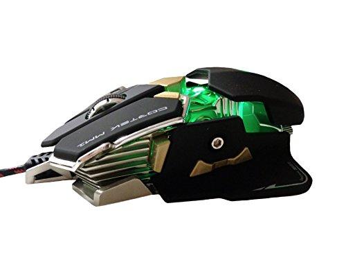 Cortek cormm1Gaming Laser Maus, 10Tasten programmierbar, Avago 9800, Metallisch, 1mm