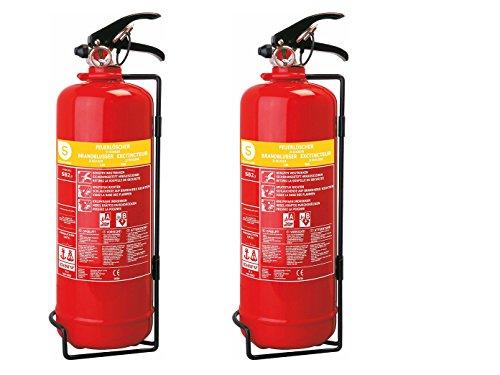 SMARTWARES Lot de 2 l Facile d'extincteur à Mousse, feuerklassen a, b, de Lutte sB2SW Contre l'incendie