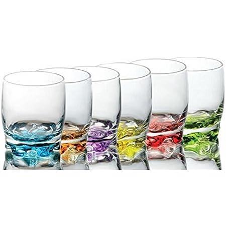 VBL Corail Couleur Base Set de 6 jus Tumbler potable Verres 405 ml