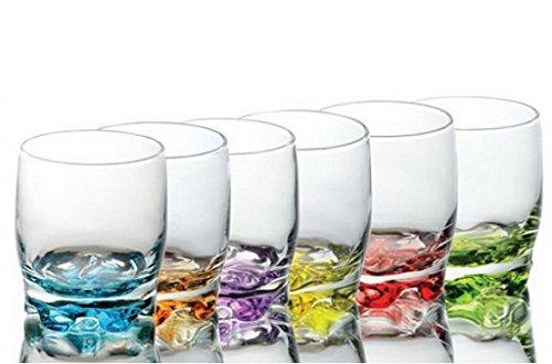 Sables & Reflets 6 sapglazen – waterglazen – sodagglazen – gekleurde achtergrond – 250 ml