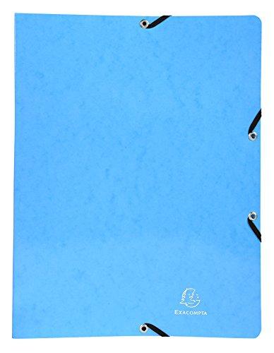 Exacompta 54897E Iderama Ringbuch (mit Gummizug A4, 2 Ringe, 15 mm, beschichteter Manila-Karton) 1 Stück, hellblau