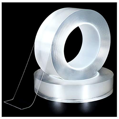 ZAIYASE 防水テープ 超強力 補修テープ 台所コーナーテープ キッチン 透明な 防水 強粘着 耐熱 防油 防汚 防カビ 抗菌 テープ 風呂 浴室 浴槽まわり バスルーム トイレ 便器 トイレ ベランダ 台所 洗面台 水漏れ補修テープ (3cm*3m*0.5mm)