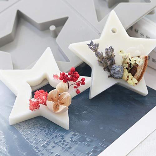 Stern Backform Silikon DIY Silikon Backen Kuchen Formen Törtchenform Pralinienform Schokoladenform Form Kuchen Schimmel Für Weihnachten NEU Jahr Party Von Sommer\'s Laden(2 Gruppen von 4)