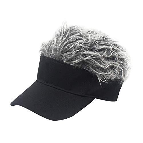 Baseball Cap with Fake Hair
