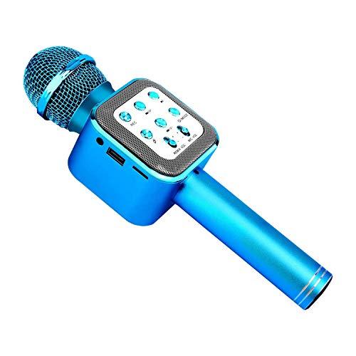 Karaoke Bluetooth microfoon, draadloze, draagbare karaokemicrofoon met LED-lichten en luidspreker voor kinderen Sing Music Match, compatibel met Android/iOS/AUX of smartphone random color