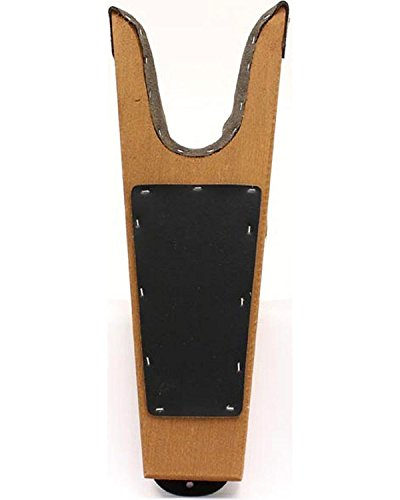 M&F Stiefelknecht Stiefelboy Holz Massiv Meranti oder Hemmlock und Anti Rutsch (braun)