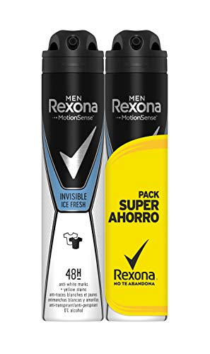 Rexona - Desodorante Antitranspirante Invisible Ice Fresh - Pack Ahorro de 2 x 200 ml