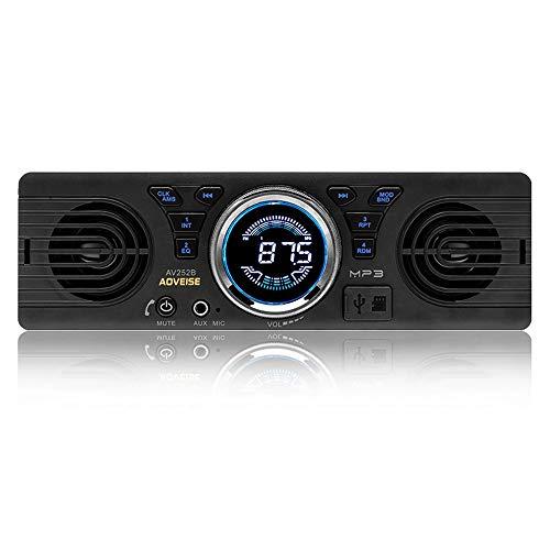 Boomboost AV252 12V Car Tarjeta SD Radio de Coche Stereo autoradio MP3 Altavoces incorporados con Altavoces Host Bluetooth