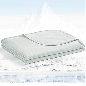 Avoalre Manta Verano con Fibra de Enfriamiento Japonesa ARC-Chill, Q-MAX 0.3, Ambos Lados Súper Suave Transpirable, Antiestática Ayudar a Dormir, para Cama Sofá Coche Viaje, 150 * 200CM, Gris