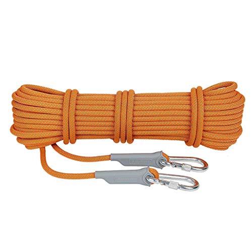 ZSM Seguridad al Aire Libre Cuerda Cuerda Rappel Escalada Equipo de Campamento/Escalada/Montañismo/Carretera Que Conduce/Buceo Opcional Naranja de tamaño Desgaste de la Cuerda de Escalada YMIK