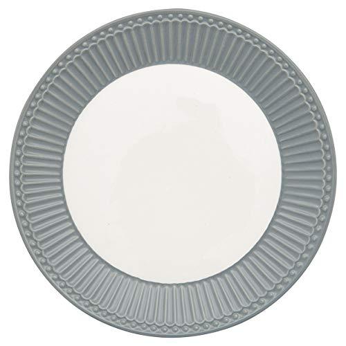 GreenGate - Teller, Frühstücksteller, Kuchenteller - Alice - Stone Grey - D 23 cm