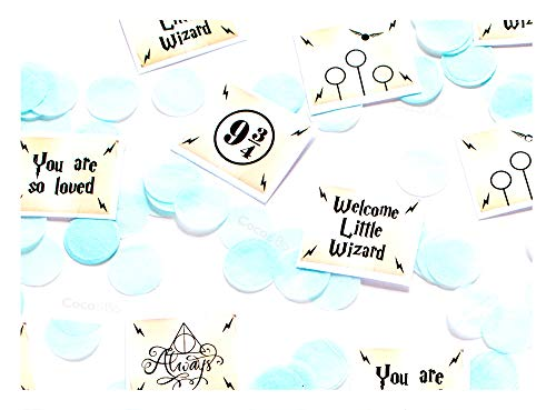 Coco&Bo - Magical Wizarding - Welcome Little Wizard Table Confetti - Inspirado en Harry Potter - Decoraciones para fiestas biodegradables amigables con el lugar